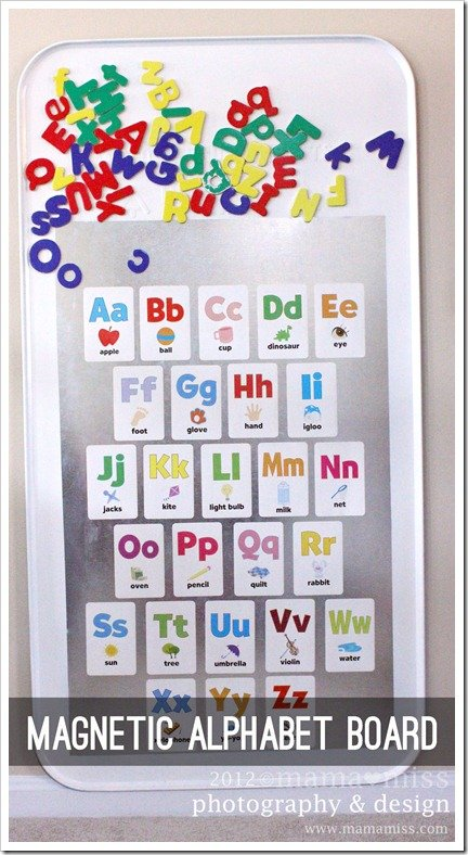 Alphabet Magnet Board via Mama Miss
