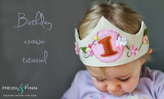 Birthday Crown Tutorial via Heidi Finn