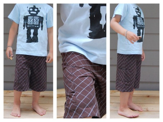Men's Shirt to Boy's Shorts via Saltwater Kids