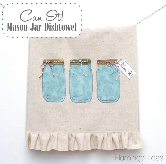 Can it! Mason Jar tea towel. I love this!