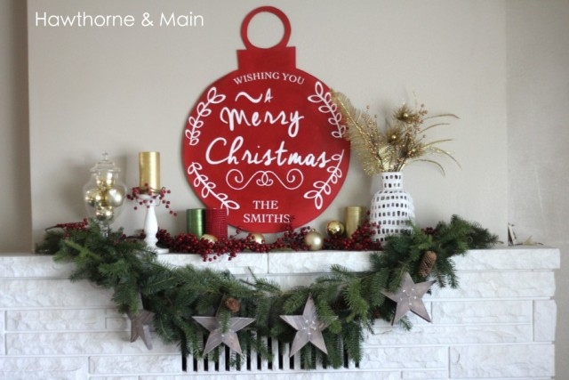 Hand painted Pottery Barn style Christmas ornament tutorial. Huge impact.