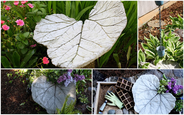 Concrete Leaf Yard Art - Heidi