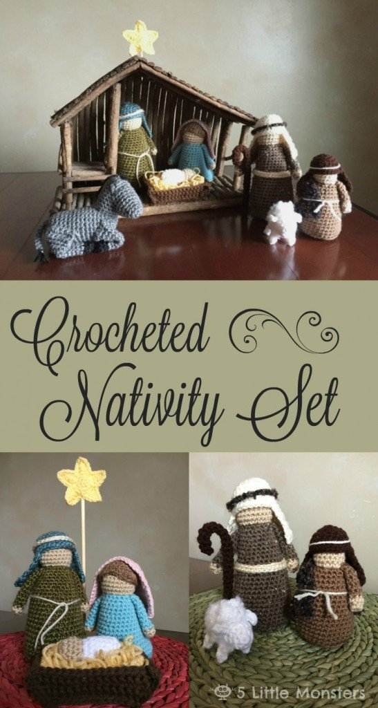 Learn how to make this crocheted nativity set.