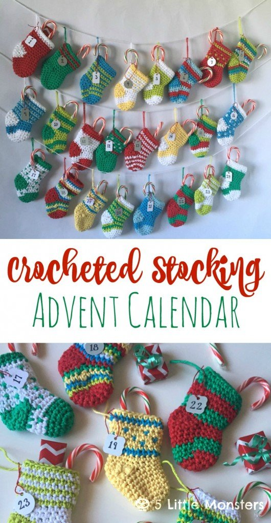Crocheted Advent Calendar Tutorial