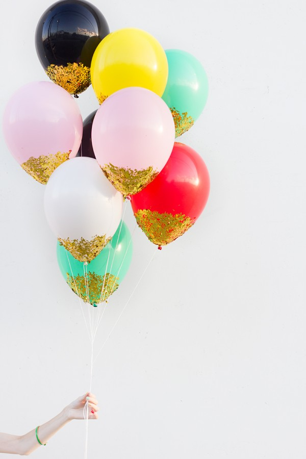 Confetti Dipped Balloons Tutorial