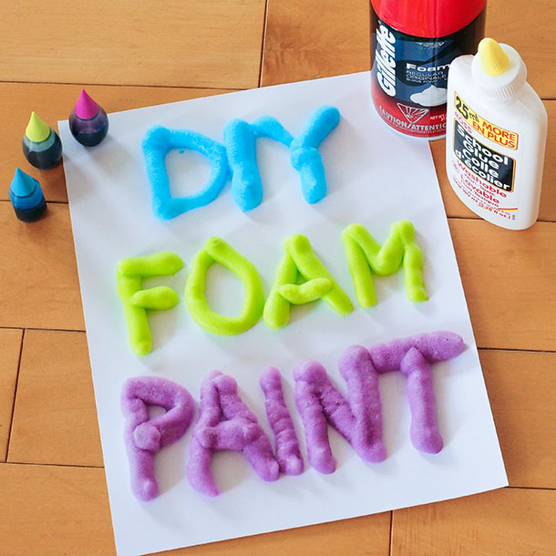 DIY foam paint recipe. This homemade paint recipe is perfect for at home play.