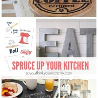 Great DIY kitchen decor projects. There are so many great, inexpensive projects here. Totally great for a kitchen makeover.