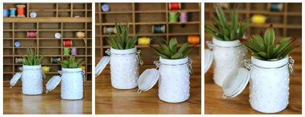DIY Milk Glass Jars