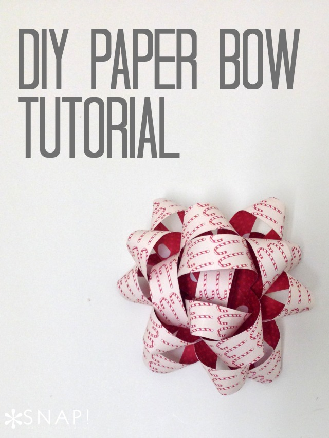 DIY Paper Bow Tutorial 1