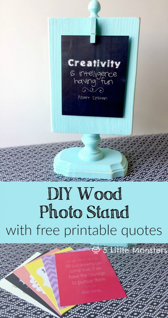 DIY photo stand. I love that this is made from scrap pieces. She shows you exactly what to use.
