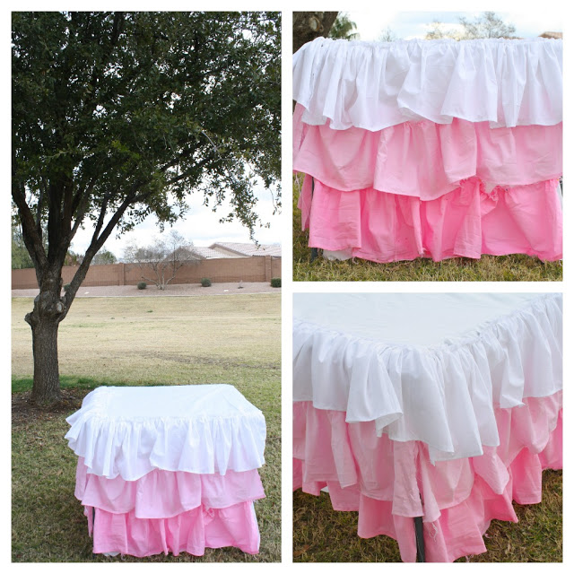DIY Ruffle Ombre Tablecloth - Camille