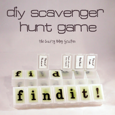 DIY Scavenger Hunt Box via The Crafty Blog Stalker
