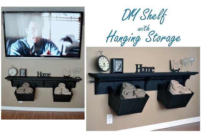 DIY Shelf w hanging storage