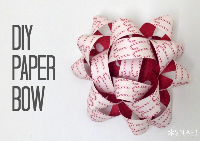 DIY paper Bow tutorial 3