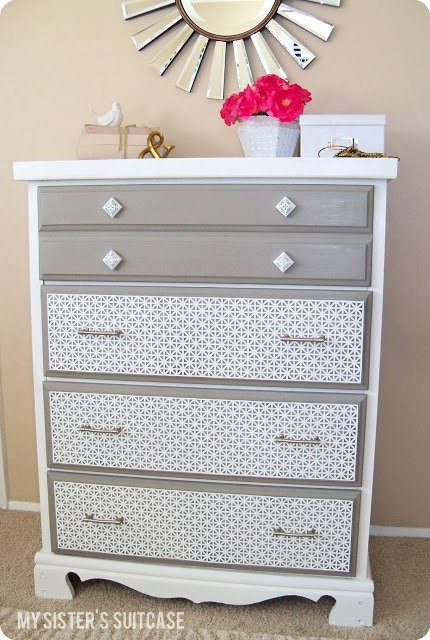 Dresser Upcycle via My Sisters Suitcase