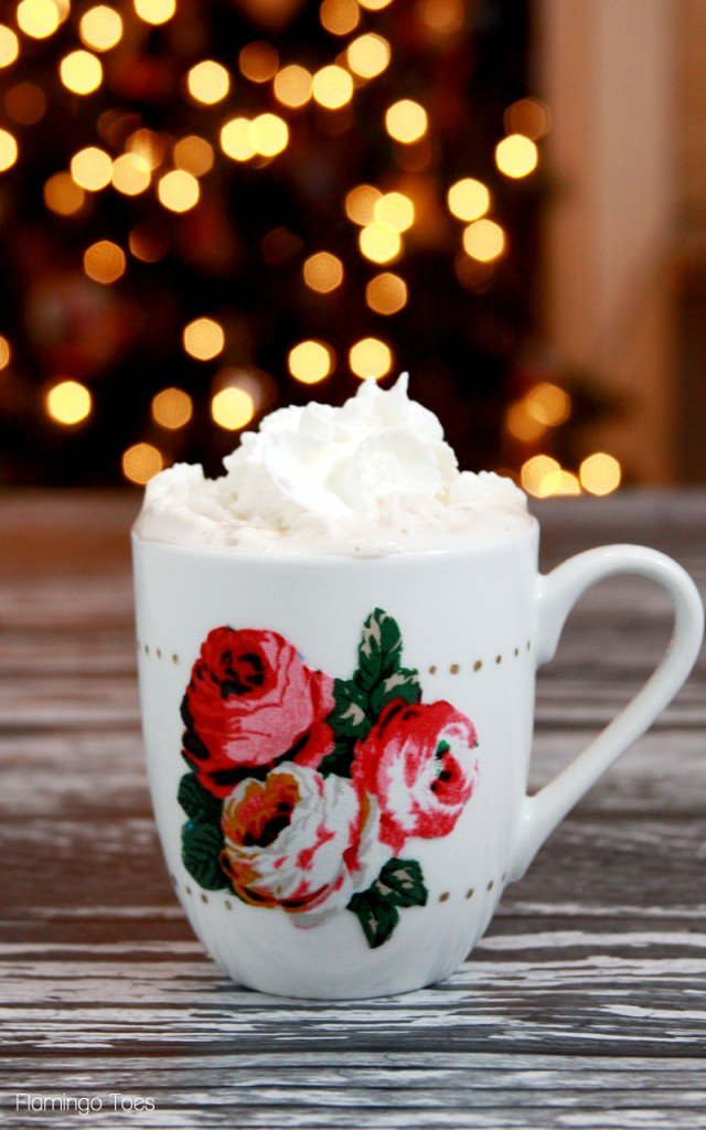 Hand decorated holiday mug. Great gift for girlfriends.