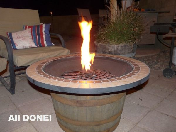 DIY Whisky Barrel Fire Pit