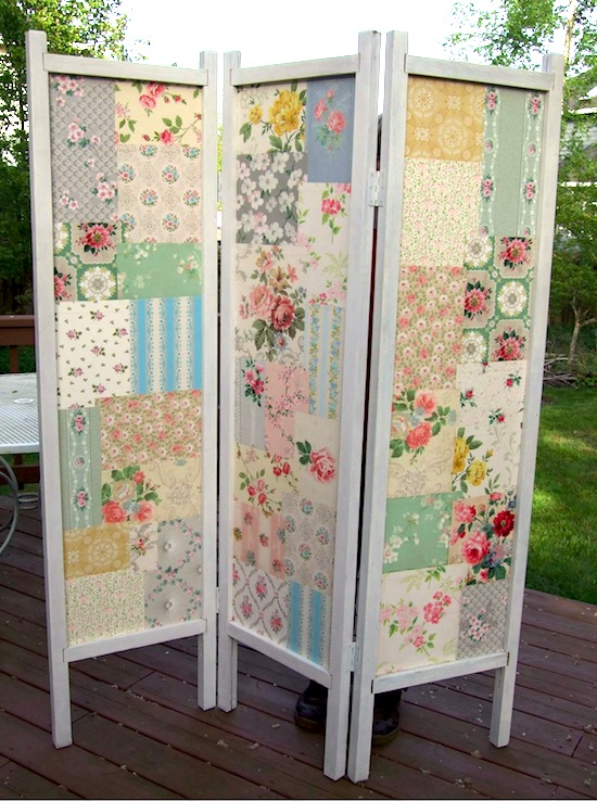 DIY Patchwork Screen