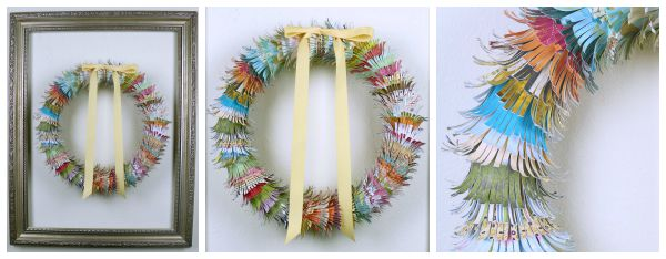 Fringed Paper Wreath