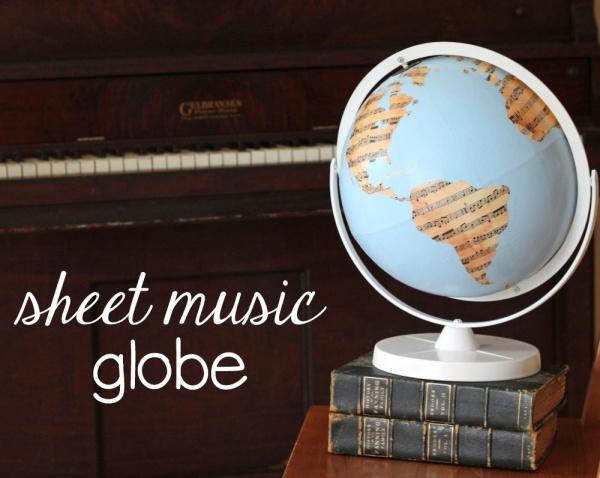 Sheet Music Globe