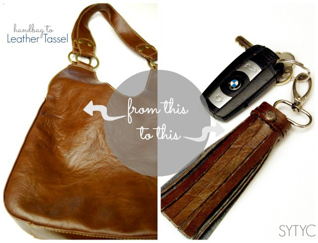 How to make a leather tassel #DIY #upcycle