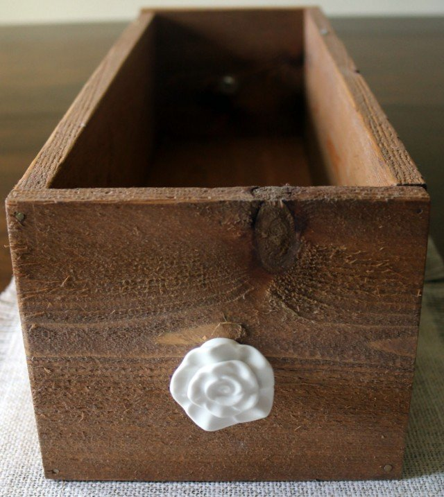 Wood Box Centerpiece