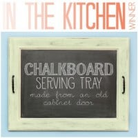 Chalkboard Serving Tray Tutorial