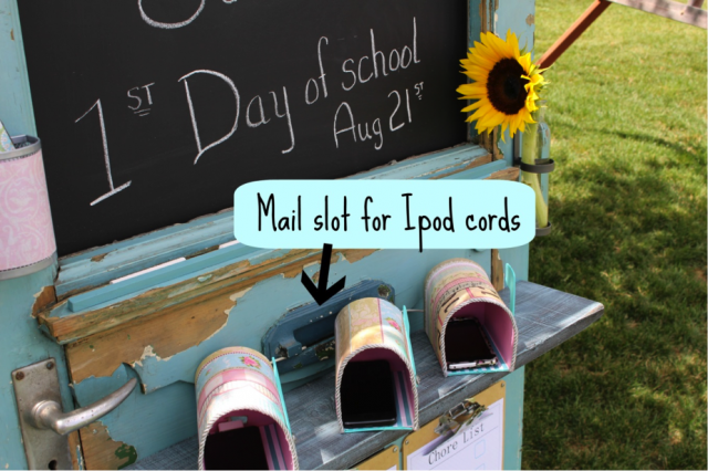 Kids Back to School Station via Oh So Shabby