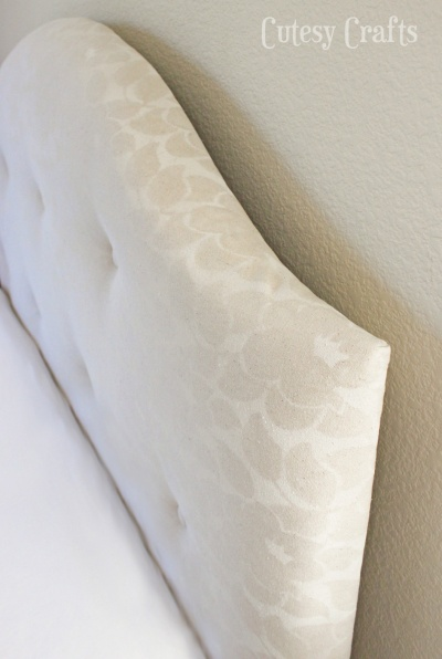 Lace Stenciled Headboard