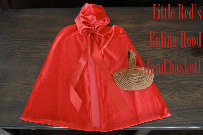 Little Red Riding Hood Cape & Basket - Christy