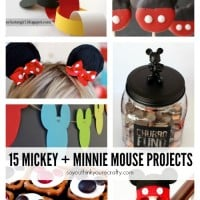 15 Mickey and Minnie Mouse Craft Projects - So many fun ideas here. Great for trips to Disney or at-home parties.