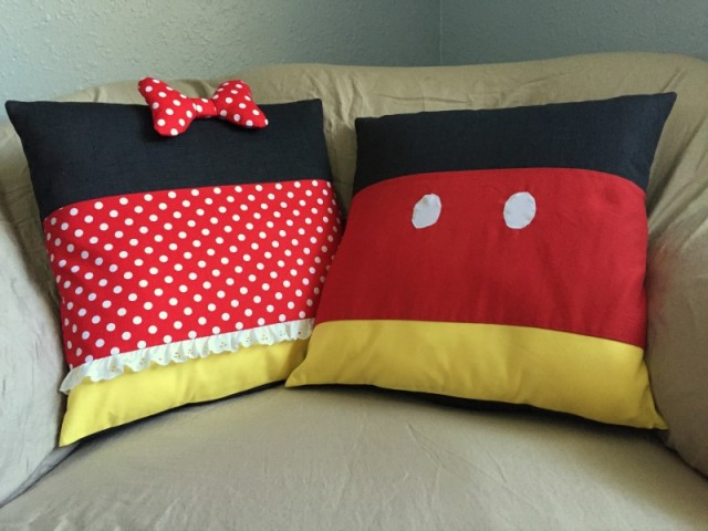 Minnie and Mickey Pillows
