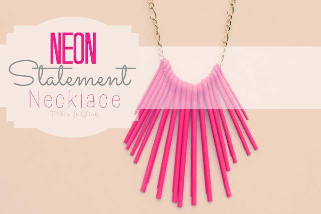 Neon Statement Necklace via Pitter and Glink