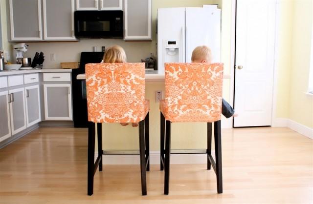 Oil Cloth Chair Covers via Dana Made It
