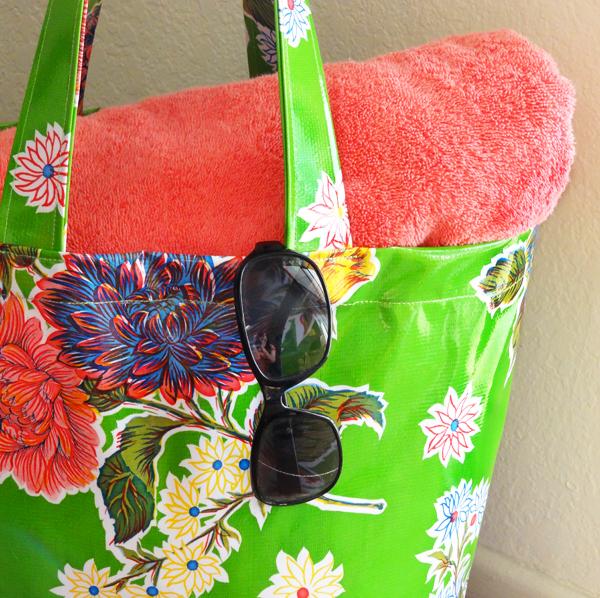 Oil Cloth Tote Bag via Twinkle and Twine