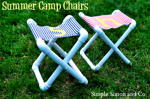 PVC Summer Camp Chairs via Simple Simon & Co