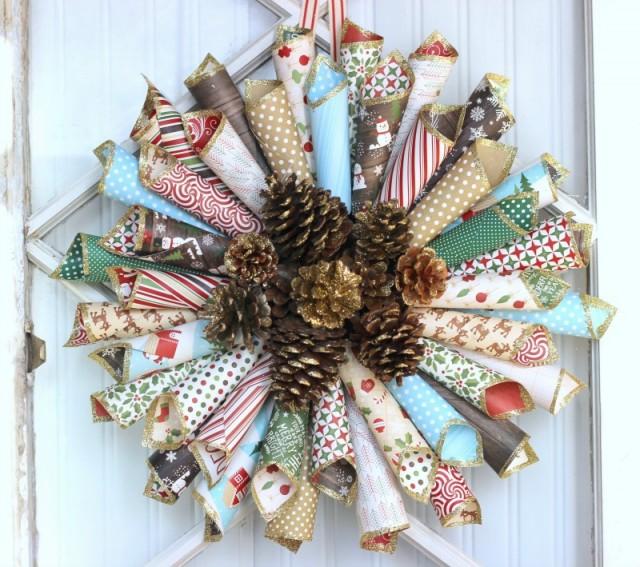 Paper Cone Wreath 7