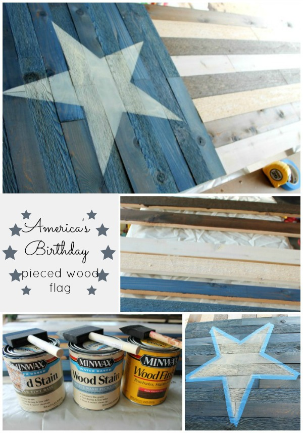 Pieced Wood Flag