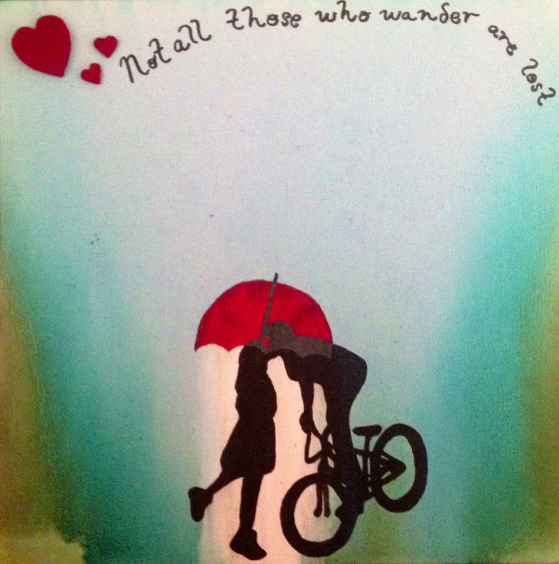 Rain wall art - amber c