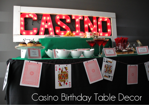 Casino Party Table