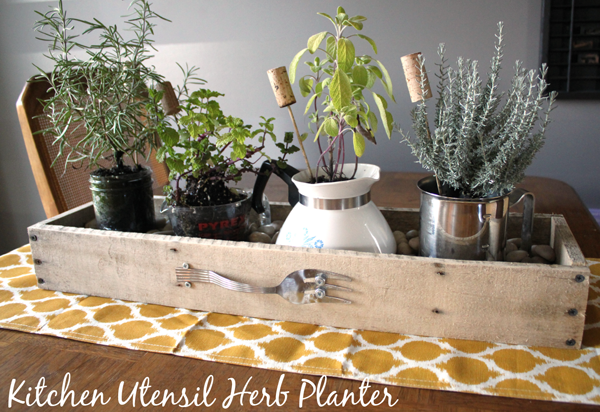 Kitchen Utensil Herb Planter