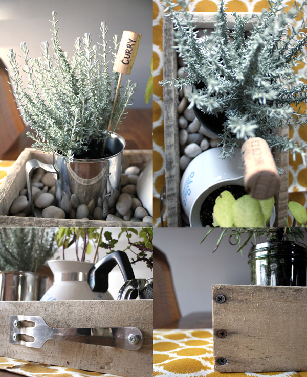DIY Kitchen Utensil Herb Box