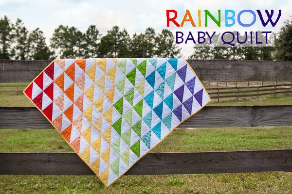 Scrap Rainbow Baby Quilt