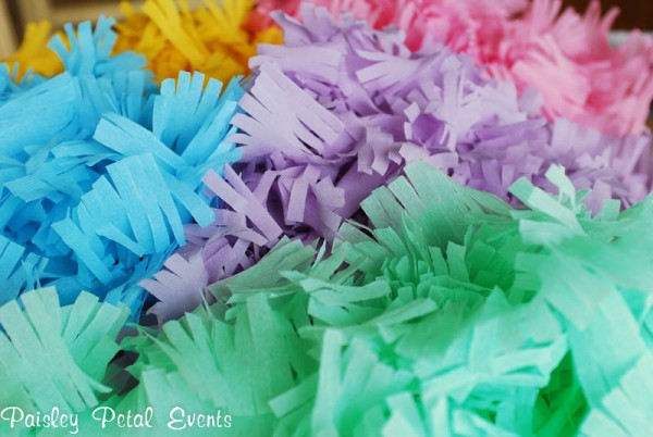 Fringed Crepe Paper Streamers Tutorial via SNAP!