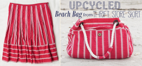 Upcycle - Skirt to Beach Bag