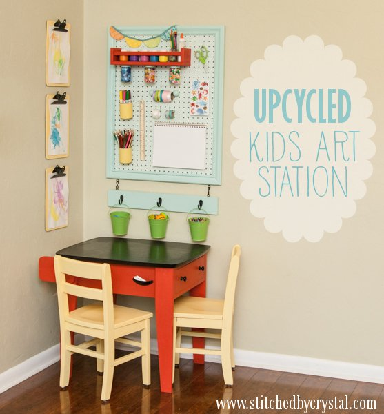 Upcycled Art Station Tutorial