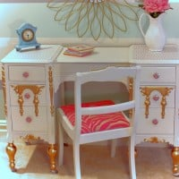 Upcycled Girl's Vanity FB