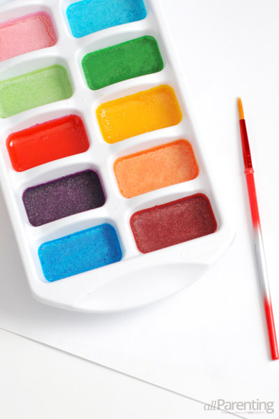 Non-toxic homemade water color paints.