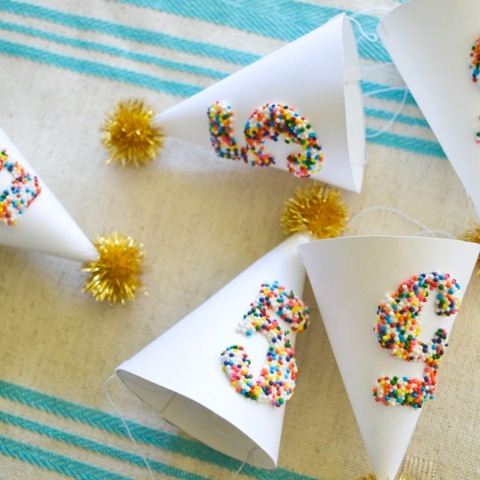 Sprinkled Miini Party Hats