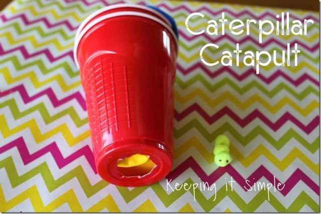 caterpillar catapult keeping it simple crafts